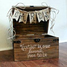 Large Shabby Chic Rustic Wooden Card Box Wedding Card by BoaAndBoo,