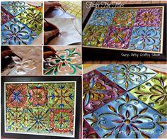 Faux Tin Foil Tiles