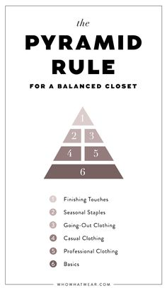 The Pyramid Rule Every Stylish Person Secretly Knows. Build the perfect wardrobe. #styletips