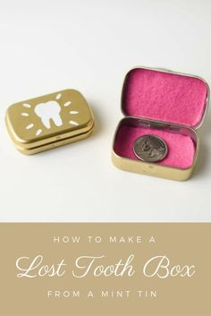 This Lost Tooth Box is easy to make using a mint tin. Keeps a lost tooth secure until the Tooth Fairy arrives.