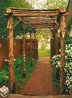 25 beautifully inspiring DIY backyard pergola designs for outdoor enhancing… - Diygardensproject.live - Garten Ideen 25 beautifully inspiring DIY backyard pergola designs for outdoor entertaining … - Garden Arbor, Garden Paths, Garden Landscaping, Garden Archway, Garden Entrance, Landscaping Ideas, Diy Garden, Fruit Garden, Archway Decor