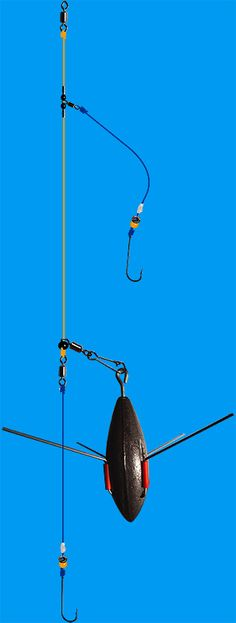 Sea fishing  rigs - build a 2 hook Wessex rig