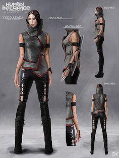 ArtStation - Human Interface - Character concept art ( Yuko Asaka ), Darius Kalinauskas