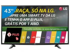 "Smart TV LED 43"" LG 43LH5700 Full HD - Conversor Integrado 2 HDMI 1 USB Wi-Fi"