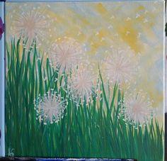 Acrylic on canvas In the Wind by AshleyArtsGallery on Etsy
