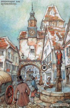 Herinnering aan Rothenburg  - Anton Pieck