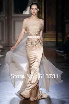 Les robes 2013 de soire de couture de Zuhair Murad Haute outre bal d'tudiants d'occasions spciales de gaine d'Applique d'paule du long habille ZH61