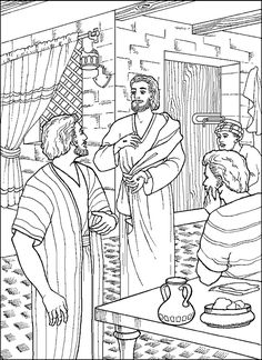 Saint Thomas The Apostle Doubting Catholic Coloring Page Feast Day Is July 3