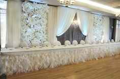 Craig Owen, Flower Panel Backdrop, Crystal backdrop, Wedding Backdrop, Modern Backdrop, Chandelier Backdrop
