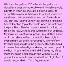 Figure skating quote my favorite quote Figure Skating Funny, Figure Skating Quotes, Figure Skating Dresses, Ice Skating Quotes, Figure Ice Skates, Skate 3, Ice Skaters, Olympic Gymnastics, Ice Dance
