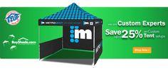Save 25% on custom tent setups.