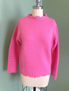 Now in the shop! 1960's Evan Piccone #hotpink #sweater