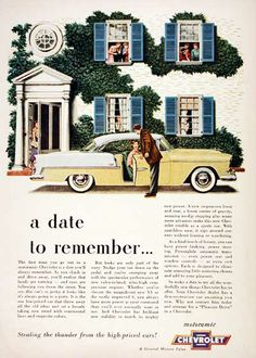1955 Chevrolet Bel Air Coupe vintage ad. Stealing the thunder from the high-priced cars! Motoramic Chevrolet.