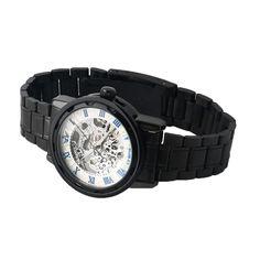 Sale Ro Numerals skeleton military business clock Steel mechanical hand wind wrist dress luxury sport watch