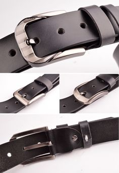 undefined Waist Belts, Leather Jeans, Leather Design, Big, Casual, Stuff To Buy, Accessories, Black, Fashion
