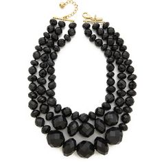 Kate Spade New York Give It A Swirl Triple Strand Statement Necklace - Black