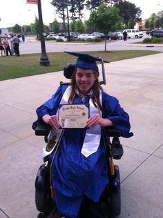 This is my daughter Morgan Meadows. She just graduated from high school and will be attending Mount Olive College In the fall. Morgan has spastic diplegia CP. Morgan always has a beautiful smile and a kind word for everyone she meets. She is truly an inspiration to us all!