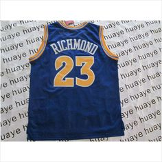 4b6934701fd Men s Golden State Warriors  23 Richmond Blue Throwback NBA Basketball  Jersey 820103337403 on eBid United