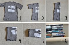 folding tee shirts | THIS is how you fold a tee shirt if you want it to fit in the ... | d ...