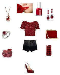 """""""Untitled #74"""" by thisagiperera ❤ liked on Polyvore featuring Parker, Jimmy Choo, Bling Jewelry, Lord & Taylor, Sif Jakobs Jewellery, Balmain and Essie"""