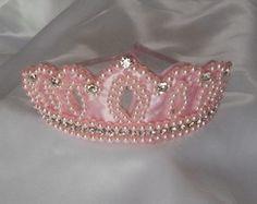 Tiara Coroa Princesa Rosa                                                                                                                                                                                 Mais