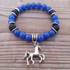Mens Bracelets Man Bracelet Men Horse Charm by BohemianChicbead
