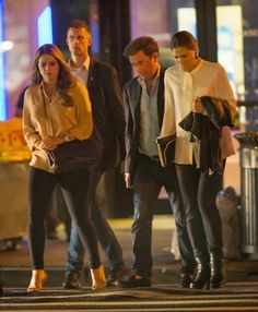 MYROYALS &HOLLYWOOD FASHİON: Crown Princess Victoria and Princess Madeleine in New York with Madeleine's husband Chris O'Neill, October 5, 2013