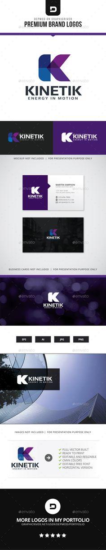 Kinetik Logo Template Transparent PNG, Vector EPS, AI Illustrator #logotype Download here: http://graphicriver.net/item/kinetik-logo/15499077?ref=ksioks