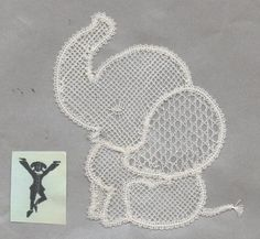 Bobbin lace Pattern No 48 Cute Elephant Motif | eBay