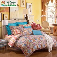 FUANNA 2015 New Arrival of Chinese Minority Style Bedding Set with Size of Queen/King HYMJ
