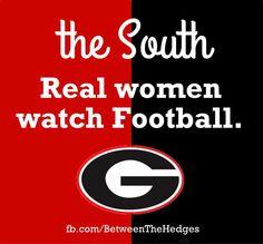 the South Real women watch Georgia Football.