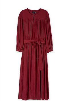 Yoke Detail Gather Dress