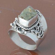 925 SOLID STERLING SILVER ROUGH STONE RING 7.11g DJR6788 #Handmade #Ring