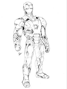 ironman sketch - Iron Man Pictures To Colour
