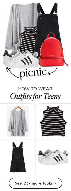"""Picnic in the Park"" by lululafitte on Polyvore featuring adidas and Michael Kors"