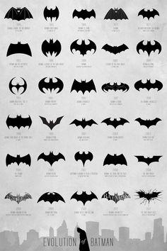 72 Years of Batman Logos on a Single Poster...I love bats