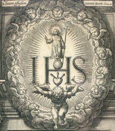 Anagrama jesuita del Santísimo Nombre de Jesús.