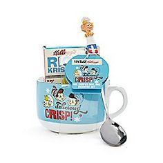 Kelloggs - Vintage Rice Krispies bowl mug breakfast set