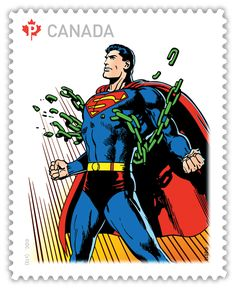 of Superman) Mi:CA 2918 Postcard Postage, Postage Stamp Art, Superman, Batman, Robin Hood Film, Batgirl And Robin, Canada, Comic Kunst, Marvel