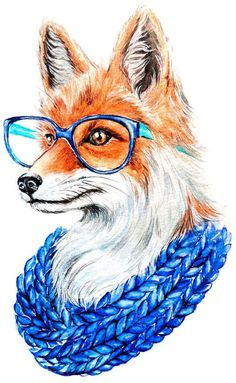 Fuchs Illustration, Cute Illustration, Animal Drawings, Art Drawings, Fox Tattoo Design, Fox Drawing, Fox Pattern, Artwork Images, Fox Art
