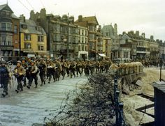 US troops ready to board landing ships at Weymouth, Dorset for the Normandy Invasion, May-June 1944. Photo 3 of 3.