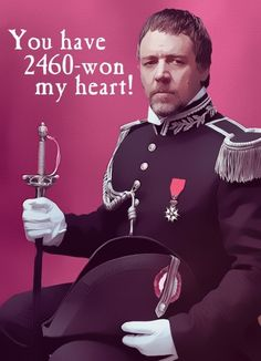 Why did I discover this too late to give it to everyone I know for Valentine's day? next year. I am giving out les mis valentine's and I don't even care Les Miserables, Make Em Laugh, Laugh Out Loud, Make Me Smile, Theatre Geek, Musical Theatre, Theater, Happy Valentines Day, Nerdy Valentines
