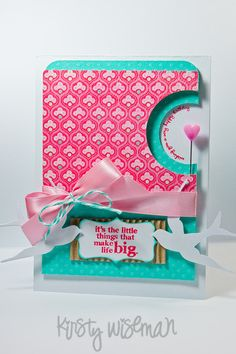 love the circle cutouts--Wendy Schultz via Taynah Payne onto Cards.; nice sentiment for a baby card