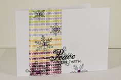 Knitted Peace Card by Erin Lincoln for Papertrey Ink (October Christmas Ideas, Christmas Cards, Xmas, Scrapbook Cards, Scrapbooking, Cool Cards, Making Ideas, Lincoln, Cardmaking