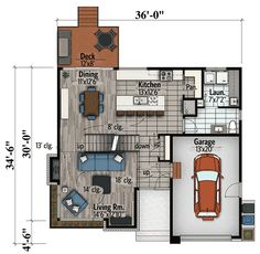 Contemporary House Plan with Master Deck - 90278PD | Architectural Designs - House Plans