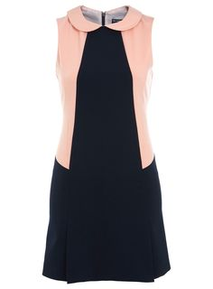 Chic style! Navy And Pink Colourblock Shift Dress. Length:84cm. Price: £39.00. http://tidd.ly/351b9a5