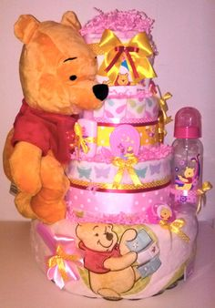Winnie The Pooh Disney Diaper Cake or Baby by LittleKGDreams