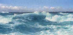 marine oil paintings: MacConnal-Mason Gallery /// . Montague Dawson, A Roll to Loo'ard, 1956