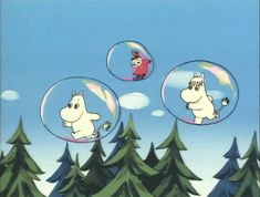 moomins in bubbles