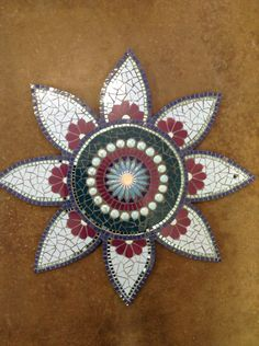 Mosaic sun catcher at Lisa B's Art studio